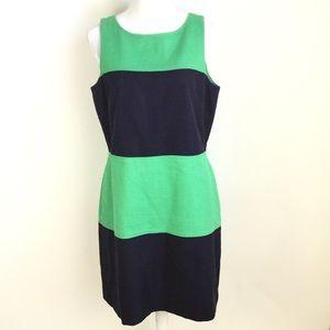 Banana Republic Sheath Blue Green Dress